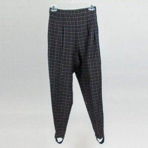Vintage High Waisted Plaid Pants Size M